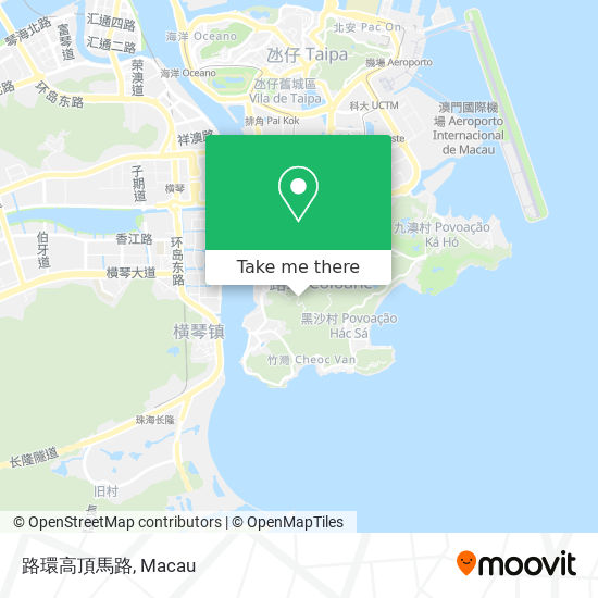 路環高頂馬路 map
