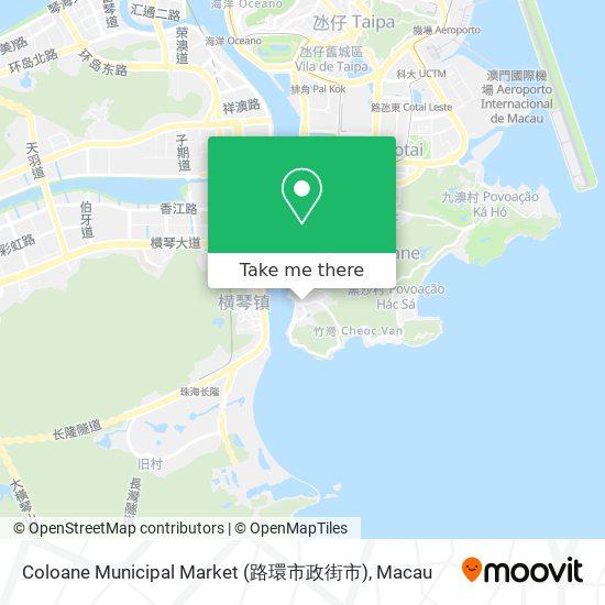 Coloane Municipal Market (路環市政街市) map