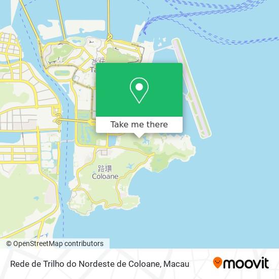 Rede de Trilho do Nordeste de Coloane map