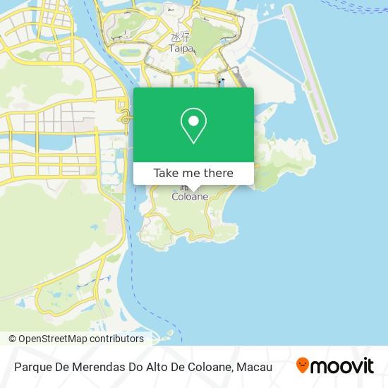 Parque De Merendas Do Alto De Coloane map