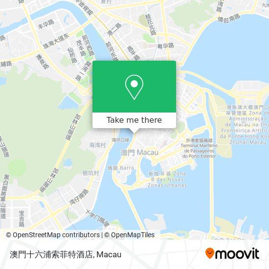 澳門十六浦索菲特酒店 map