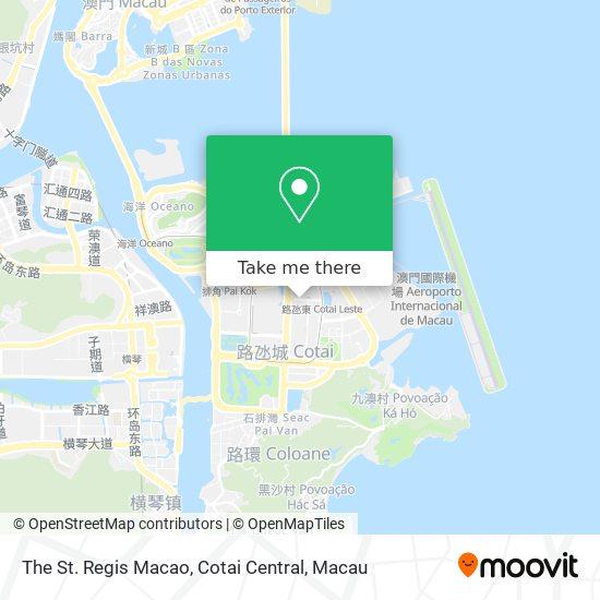The St. Regis Macao, Cotai Central map