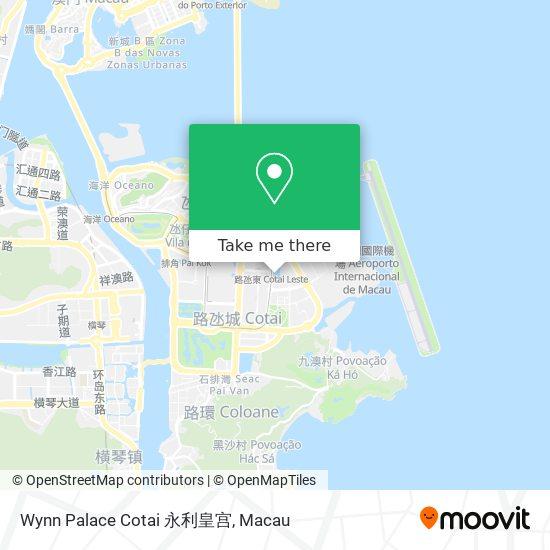 Wynn Palace Cotai 永利皇宫 map