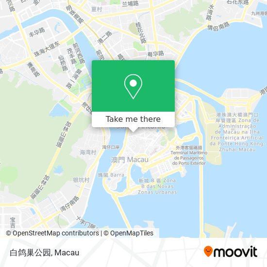 白鸽巢公园 map