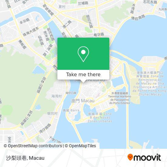 沙梨頭巷 map