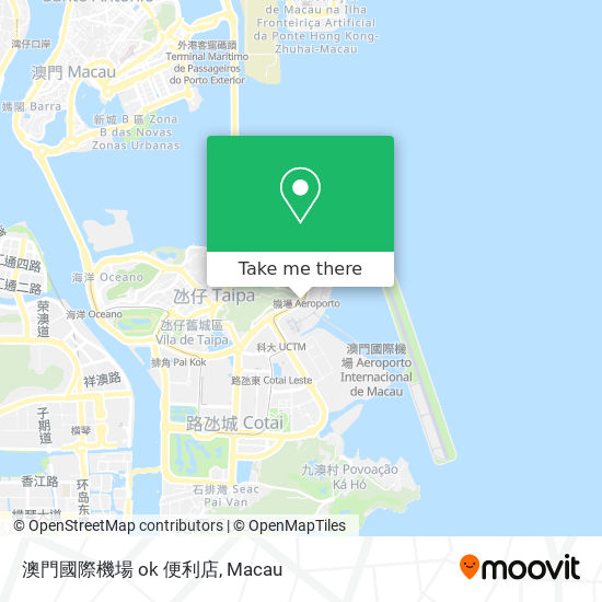 澳門國際機場 ok 便利店 map