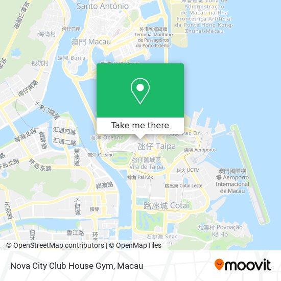 Nova City Club House Gym map
