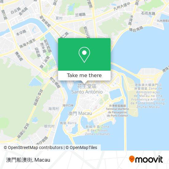 澳門船澳街 map