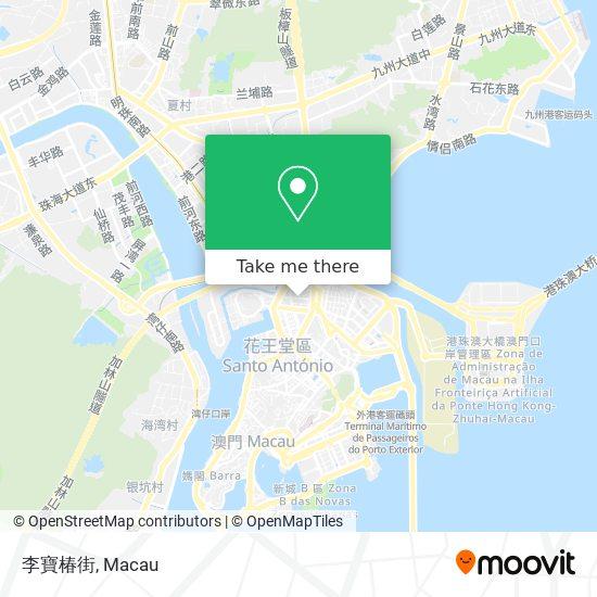 李寶椿街 map