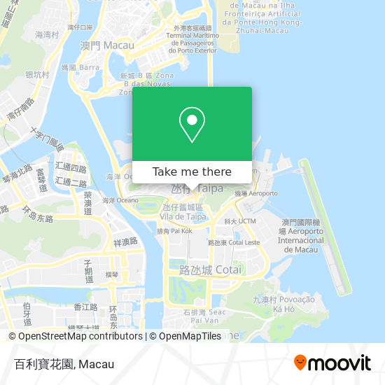 百利寶花園 map