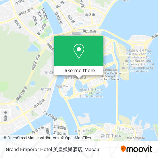 Grand Emperor Hotel 英皇娛樂酒店 map