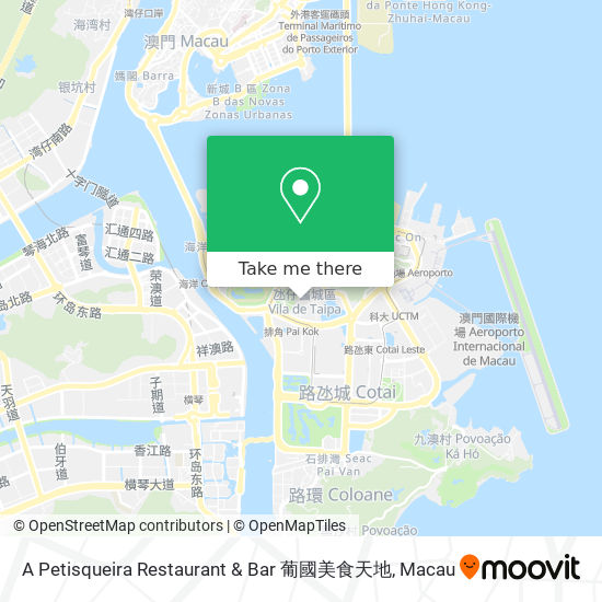 A Petisqueira Restaurant & Bar 葡國美食天地 map