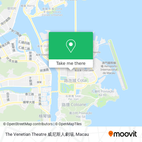 The Venetian Theatre 威尼斯人劇場 map