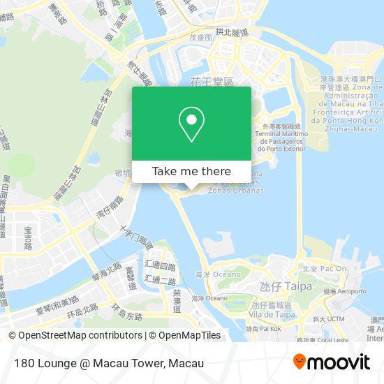 180 Lounge @ Macau Tower map