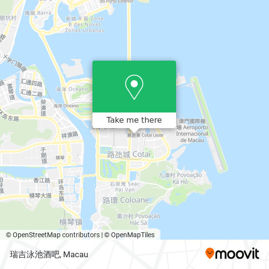 瑞吉泳池酒吧 map