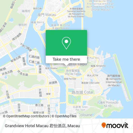 Grandview Hotel Macau 君怡酒店 map