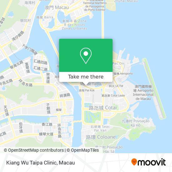 Kiang Wu Taipa Clinic map