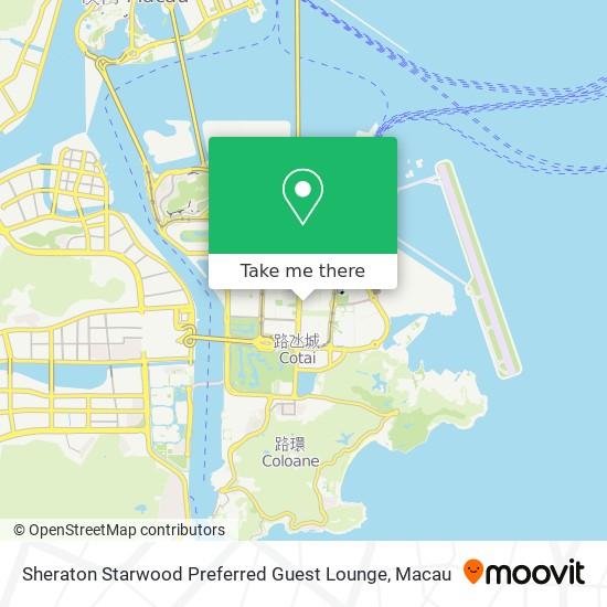 Sheraton Starwood Preferred Guest Lounge map