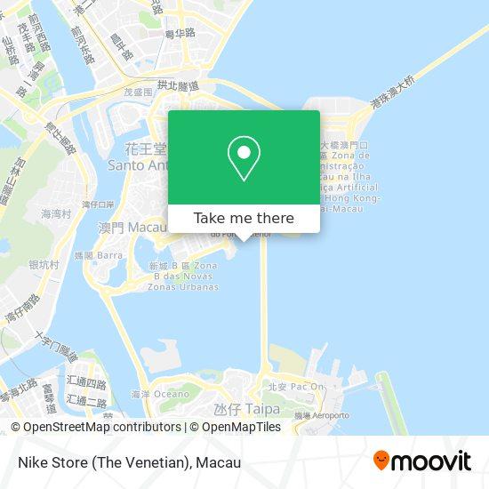 Nike Store (The Venetian) map