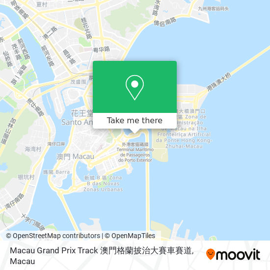 Macau Grand Prix Track 澳門格蘭披治大賽車賽道 map