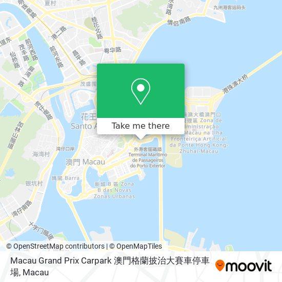 Macau Grand Prix Carpark 澳門格蘭披治大賽車停車場 map