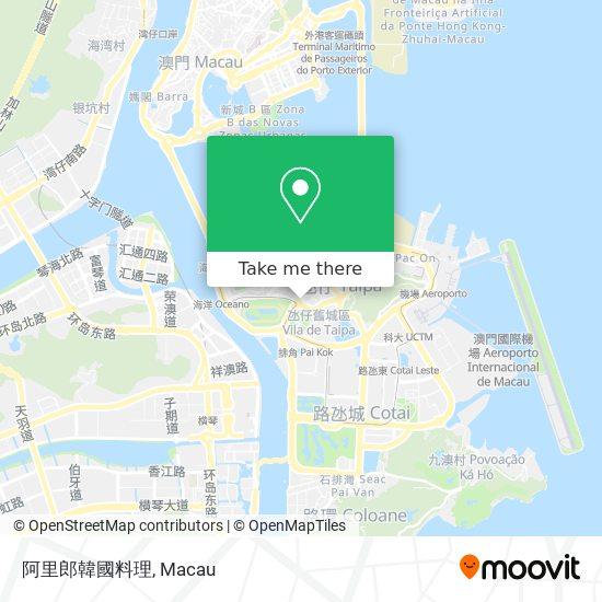 阿里郎韓國料理 map