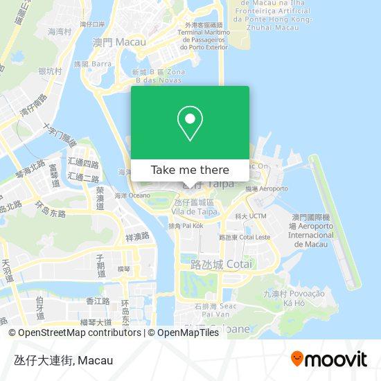 氹仔大連街 map