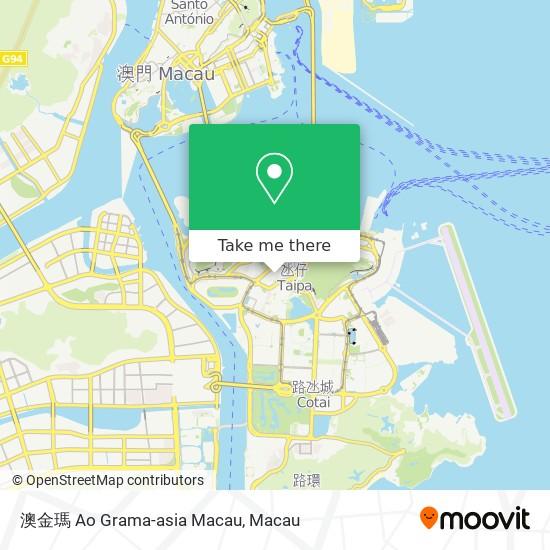 澳金瑪 Ao Grama-asia Macau map