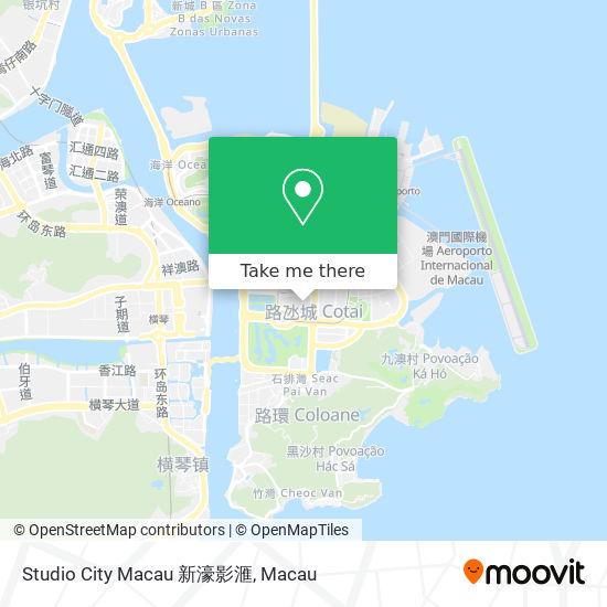 Studio City Macau 新濠影滙 map