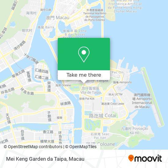Mei Keng Garden da Taipa map