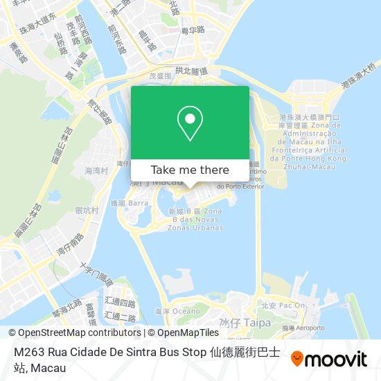 M263 Rua Cidade De Sintra Bus Stop 仙德麗街巴士站 map