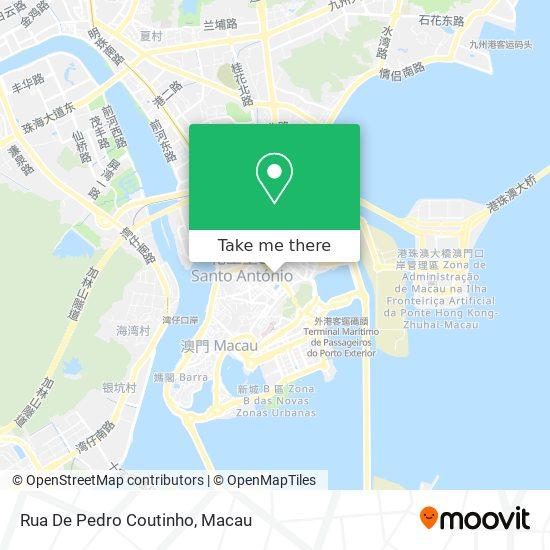 Rua De Pedro Coutinho map