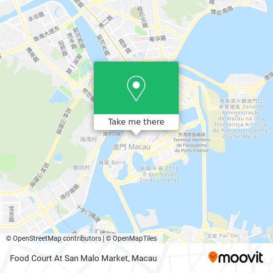 Food Court At San Malo Market map