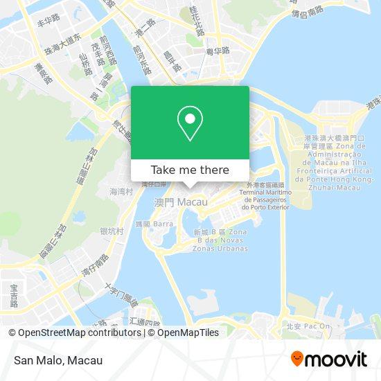 San Malo map