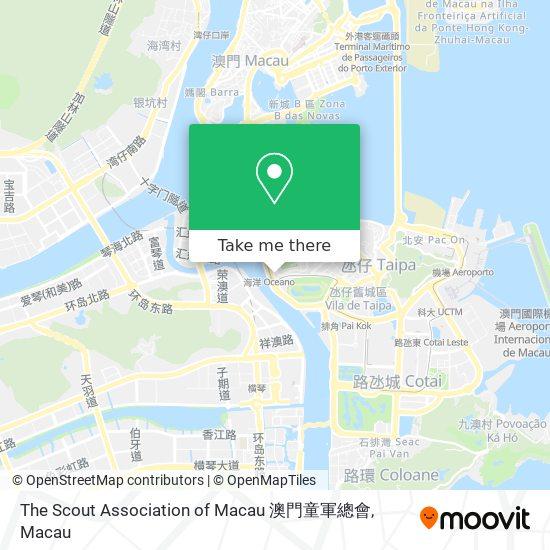 The Scout Association of Macau 澳門童軍總會 map