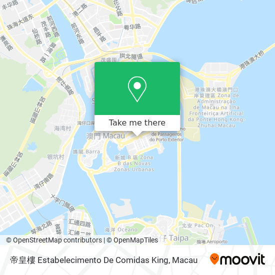 帝皇樓 Estabelecimento De Comidas King map