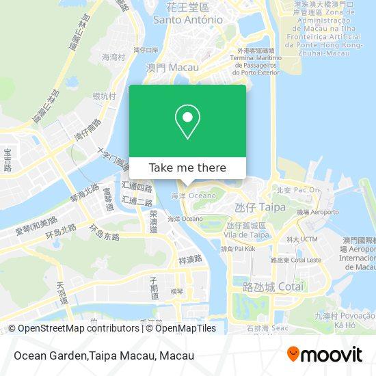 Ocean Garden,Taipa Macau map