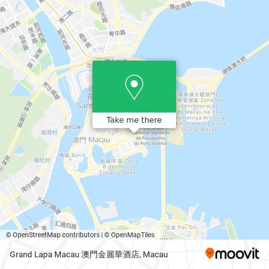 Grand Lapa Macau 澳門金麗華酒店 map