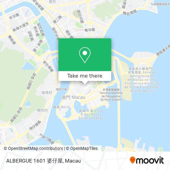 ALBERGUE 1601 婆仔屋 map