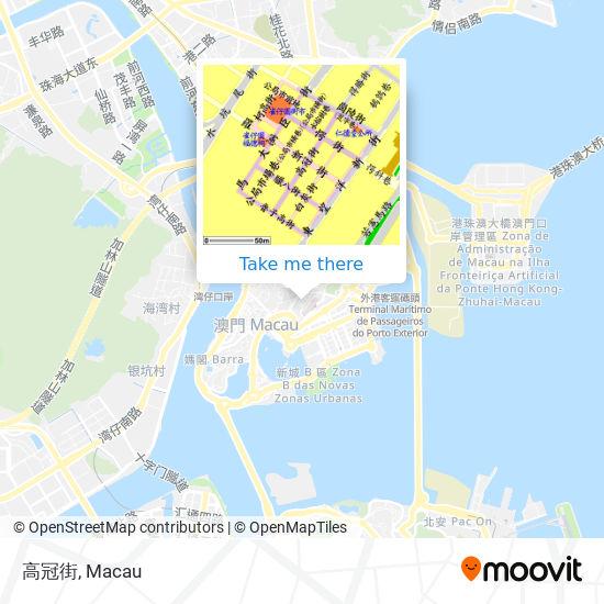高冠街 map