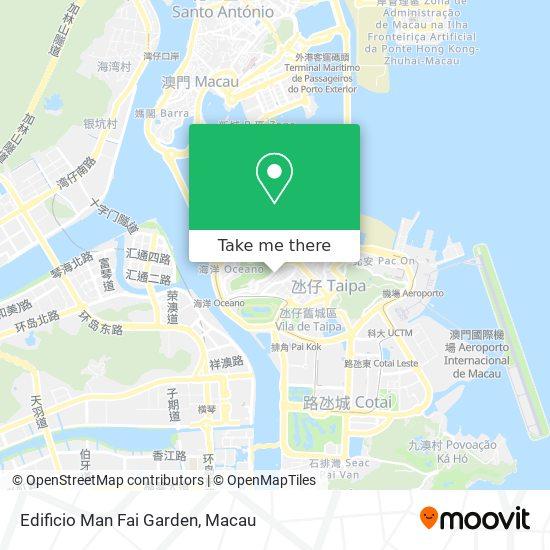Edificio Man Fai Garden map