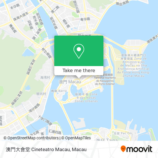 澳門大會堂 Cineteatro Macau map