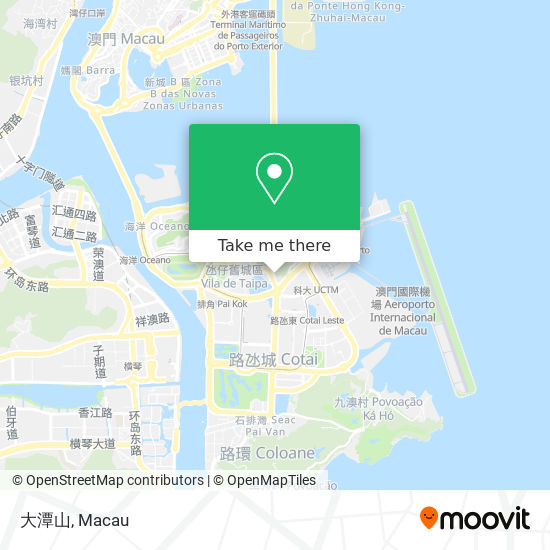 大潭山 map