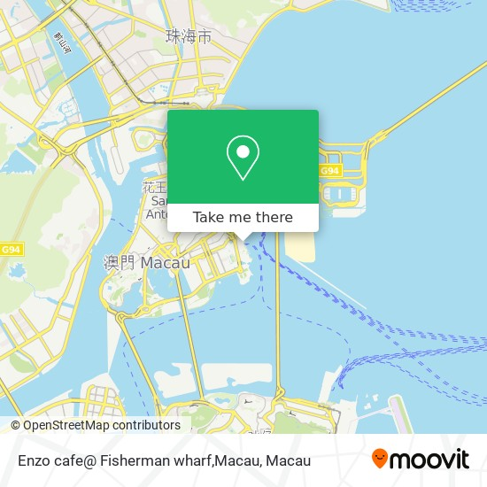Enzo cafe@ Fisherman wharf,Macau map