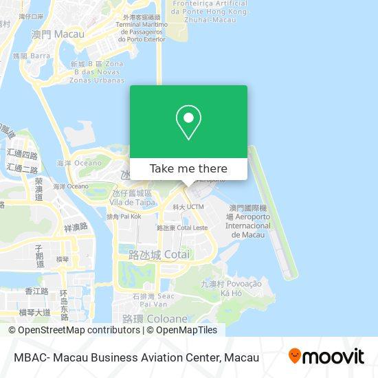 MBAC- Macau Business Aviation Center map