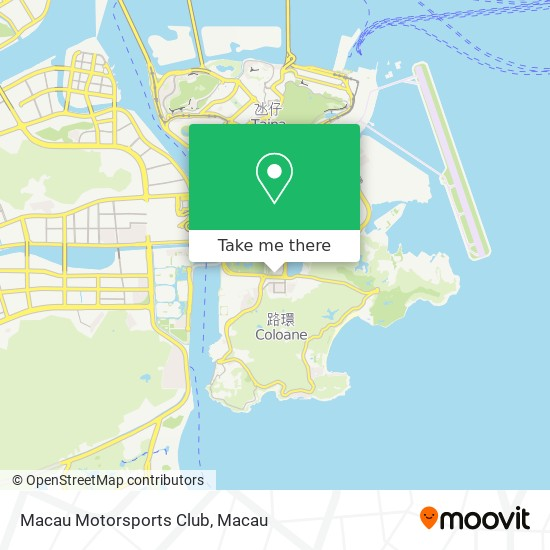 Macau Motorsports Club map