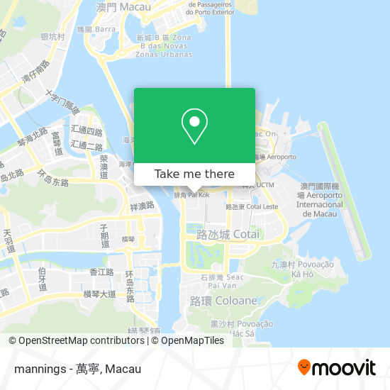 mannings - 萬寧 map