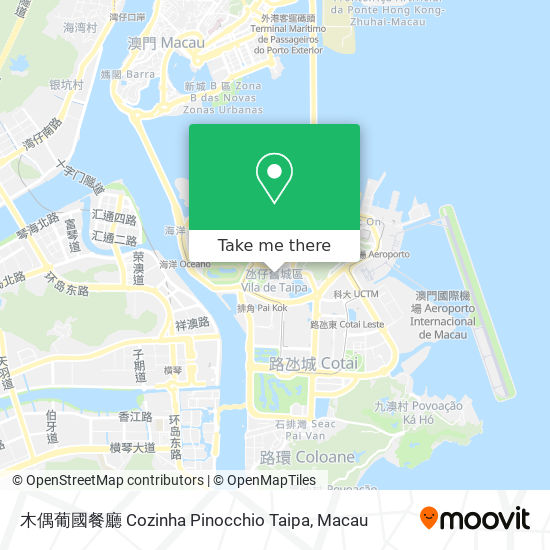 木偶葡國餐廳  Cozinha Pinocchio Taipa map