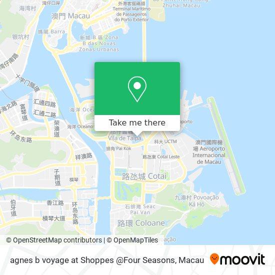 agnes b voyage at Shoppes @Four Seasons map