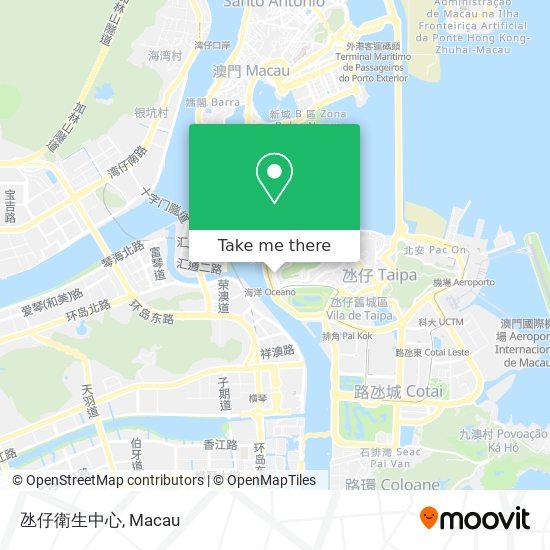 氹仔衛生中心 map